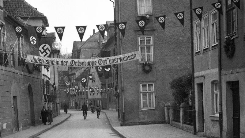 Reichstagswahl 1936: Öffentliche Judenhetze in der Leopoldstraße